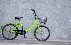 1 green bike royalty free stock image