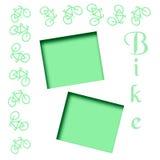 Green bike scrapbook Royalty Free Stock Photo