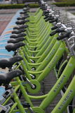 The green bike in SHENZHEN CHINA AISA Royalty Free Stock Photos