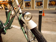 Green bicycle Stock Photography