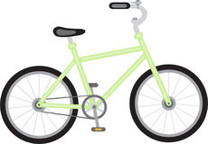 Green bike Royalty Free Stock Photo