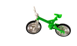 Green bike on the white background Royalty Free Stock Photography