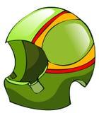 Green Biker Racing Helmet. Royalty Free Stock Image