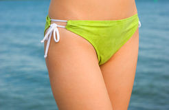 Green bikini panties Royalty Free Stock Photography