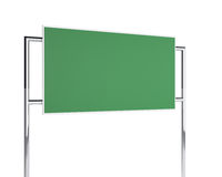 Green billboard Stock Image