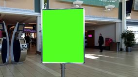 Green billboard for custom content with luma matte stock footage