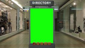 Green billboard for your ad inside Metropolis at Metrotown stock video