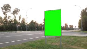Green billboard for your ad stock video