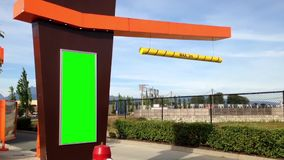Green billboard for your ad stock video footage