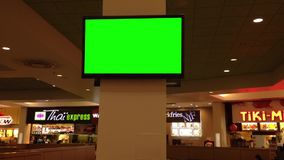 Green billboard for your ad at tv Royalty Free Stock Photography