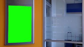 Green billboard for your ad on wall stock video footage