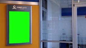Green billboard for your ad on wall stock video