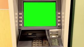 Green billboard for your at ATM machine Royalty Free Stock Image