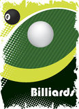 Green billiard eye.Poster background Stock Images