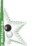 Green billiard star Stock Photography
