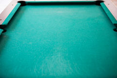 Green billiard table background Royalty Free Stock Photos
