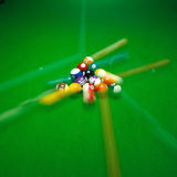 green billiard table with colorful Speedy balls Royalty Free Stock Photography