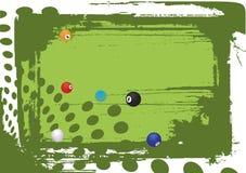 Green billiard table Royalty Free Stock Photos