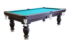 Green billiard tables Stock Images