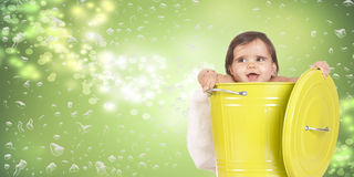 Green bin baby Royalty Free Stock Images