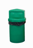 Green Bin on white background Stock Image