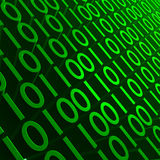Green Binary Stock Photo