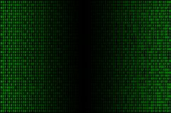 Green binary cod stock photo