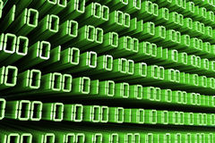 Green Binary Code Stock Photos