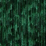 Green binary code royalty free illustration