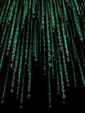 Green binary code Stock Image