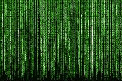 Green Binary Code. Big Green Binary code as matrix background, computer code with binary characters shining Royalty Free Stock Photo