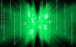 Green binary code on black background Royalty Free Stock Image