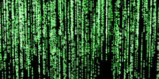 Green binary code on black background Royalty Free Stock Images