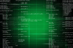Green binary code on black Stock Image