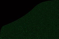 Green binary computer code on black background Royalty Free Stock Photography