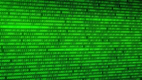 Green binary data background with depth of field programming background. You can use backgrounds for vfx, blog, vlogs, presentations, commercials, nadvertising stock illustration