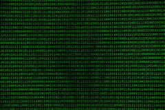 Green binary numbers, zeros and ones, background and IT concept. Green binary numbers, zeros and ones on black background, IT and hacking concept royalty free stock image