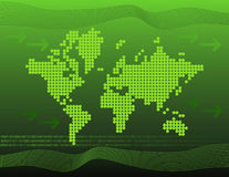 Green, binary world Royalty Free Stock Photography