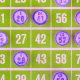 Green bingo card  Stock Photography