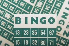 Green bingo cards  Royalty Free Stock Photos