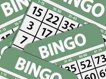 Green bingo cards background Royalty Free Stock Images