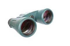 Green binoculars stock photography