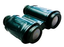 Green binoculars Royalty Free Stock Images