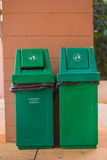 Green bins Stock Images