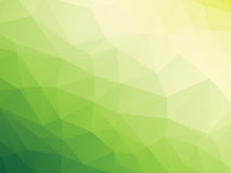 Green bio background. Abstract triangular yellow white green bio background Stock Photos