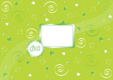 Green bio background Royalty Free Stock Photo