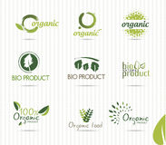 Green bio labels Stock Images