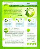 Green bio website template Royalty Free Stock Photography