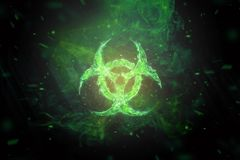 Free Green Biohazard Symbol On Black Background. Sign Of Biological Hazard. The Concept Of Chemical Waste, Pollution Of The Nature, Royalty Free Stock Images - 152107659
