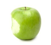 Green bitten apple Royalty Free Stock Photo